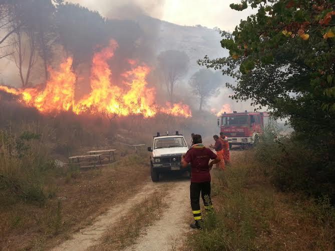 vigili del fuoco monte trocchio cervaro